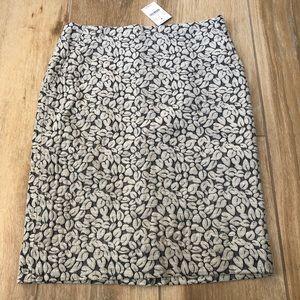 {J. Crew} Leaf Back Slit Skirt